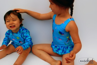 Boo! Designs Baby Swimmers & Ultimate Suit sewn by Auschick. See more at www.auschick.com