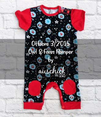 Ottobre Owl & Foxes Romper sewn by Auschick