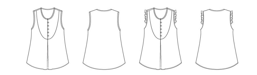 itch-to-stitch-kauai-top-pdf-sewing-pattern-line-drawings