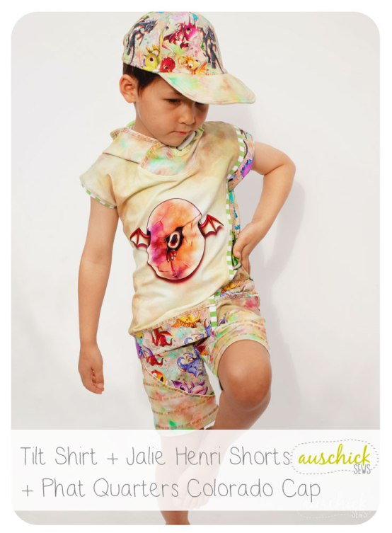 Tilt Shirt + Jalie Henri Shorts + Phat Quarters Colorado Cap sewn by auschick #jaliehenri #phatquarters #coloradocap #tilt #jalielife