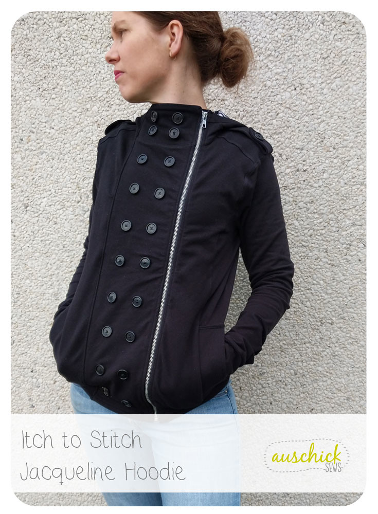 Itch to Stitch Jacqueline Hoodie sewed by Auschick