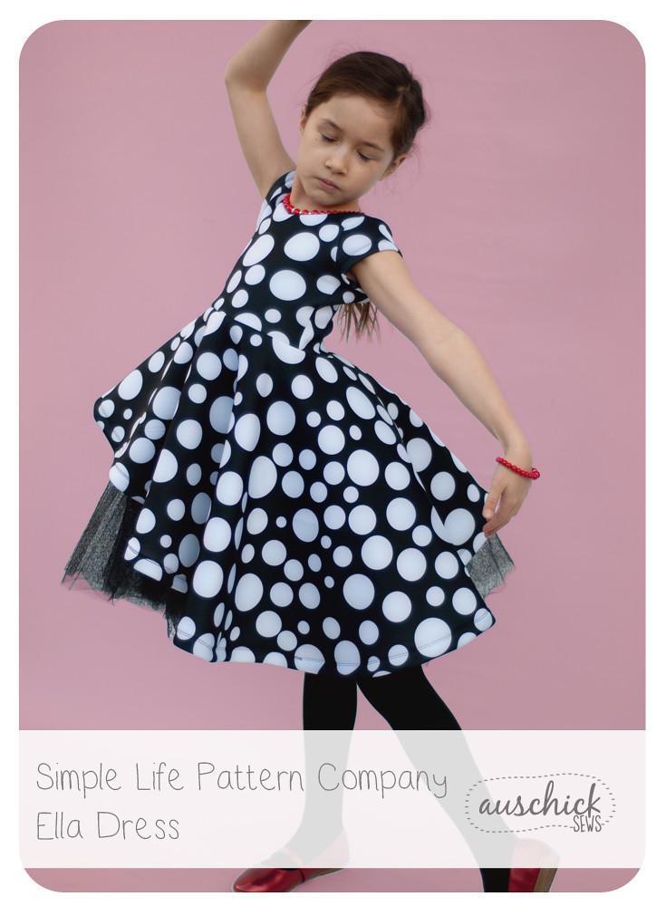 Simple Life Pattern Company Ella Dress sewn by Auschick